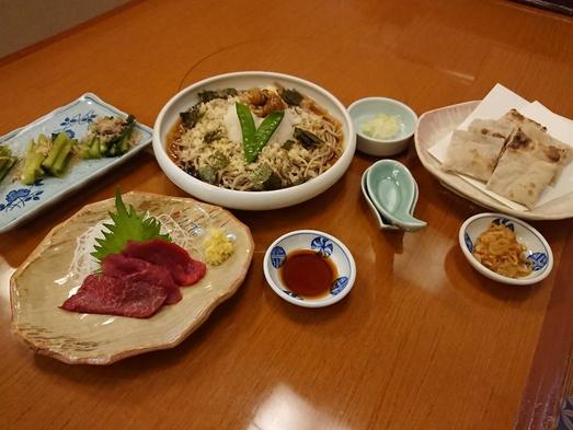 おそば屋さんの食事付きプラン【当日お店で選べる3つのメニュー】(朝食付き)