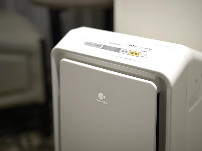 加湿機能付き空気清浄機全室完備