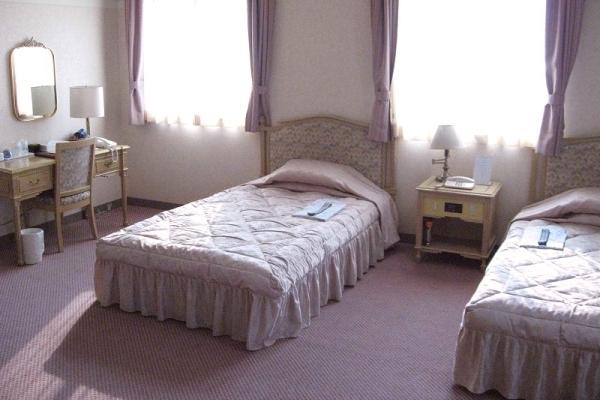 ツインルームは贅沢な広さが魅力