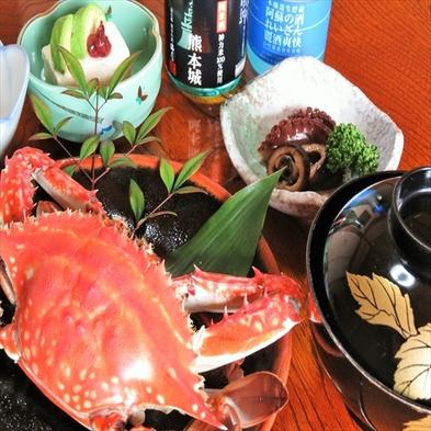 """熊本県産""""馬刺""""と不知火海で獲れた""""蟹""""の料理グレードアッププラン(1泊2食)"""