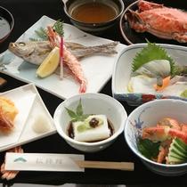 蟹付割烹懐石料理(一例)
