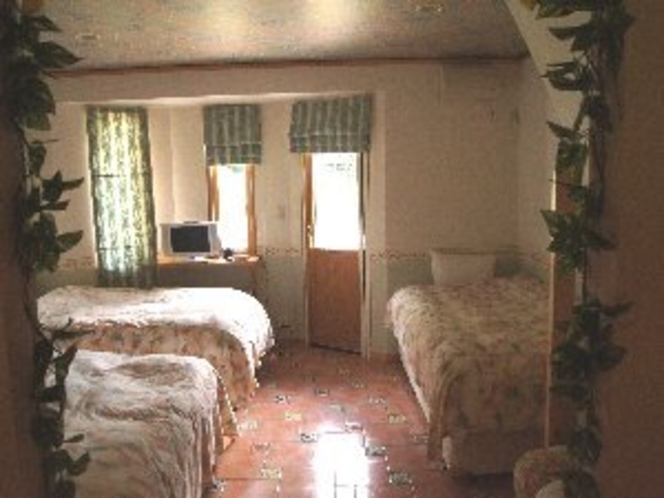 D棟のベッドルーム