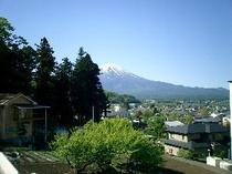 テラスから見た富士山