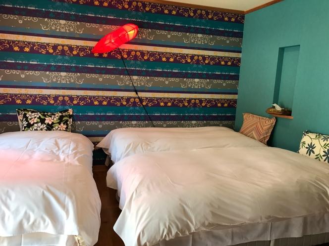 2部屋タイプの寝室