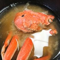 【かにのお味噌汁】旨味たっぷり!朝から蟹を堪能