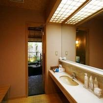 【温泉】貸切露天風呂 脱衣室