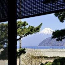 客室からの富士