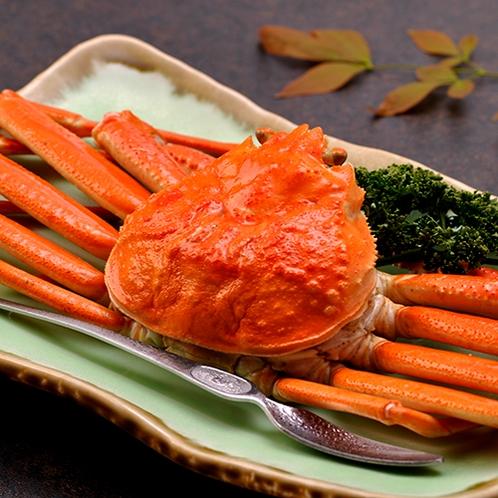 【料理】季節の夕食一例(姿ズワイガニ)