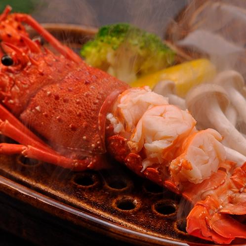 【料理】季節の夕食一例(ボイル伊勢エビ)