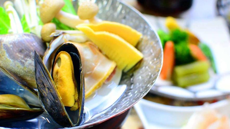 【お料理一例】グレードアップ会席海鮮鍋