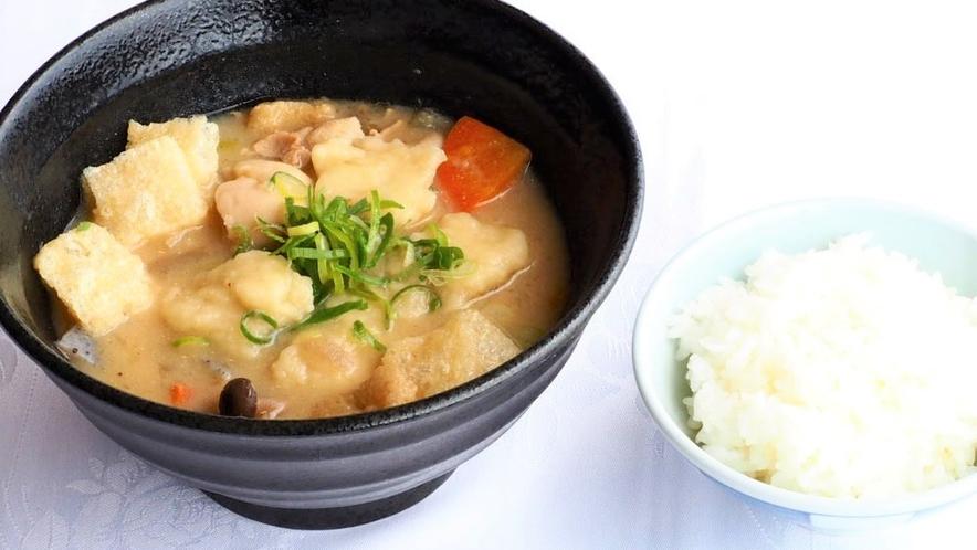 【ふくふくメニュー】熊本といったらこれ! だご汁と白飯:700円