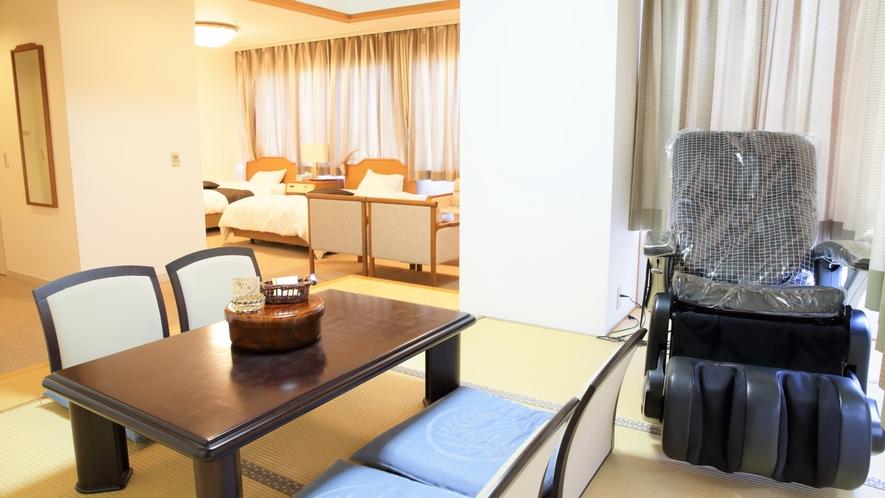 角部屋の和洋室 阿蘇山ビュー