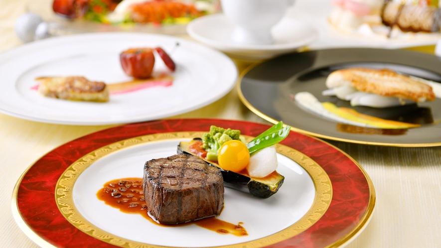 2Fレストラン「フォッセ」洋食コース一例