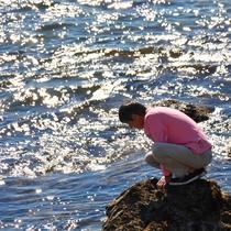 波のある日の海岸