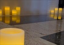 女性大浴場岩盤浴室ローソク
