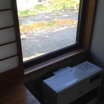 【部屋】部屋からの眺めはこのような感じです★川沿い