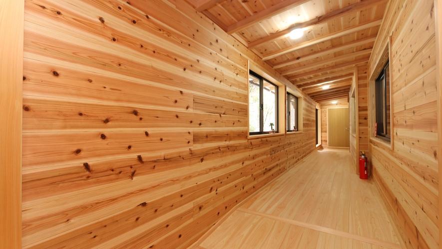 十津川の天然木材を100%使いリフォームした館内