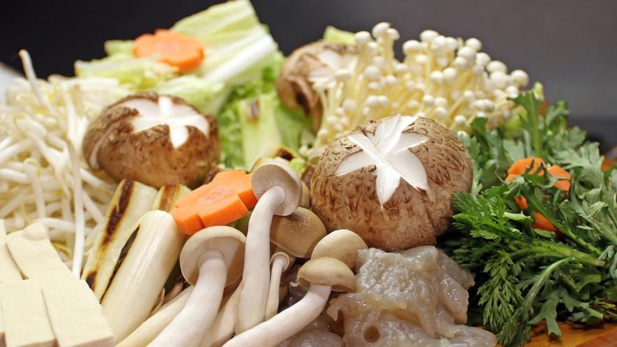 地元の新鮮野菜たっぷり