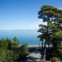 当館からの琵琶湖の眺め