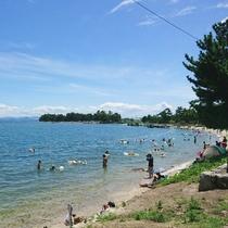 湖水浴の際は是非当館を!近江舞子浜はすぐ目の前です♪