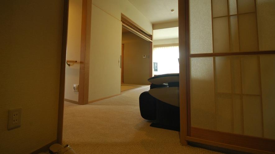 *【特別室・和洋室】室内の床はすべてバリアフリー。車いすでも安心です。