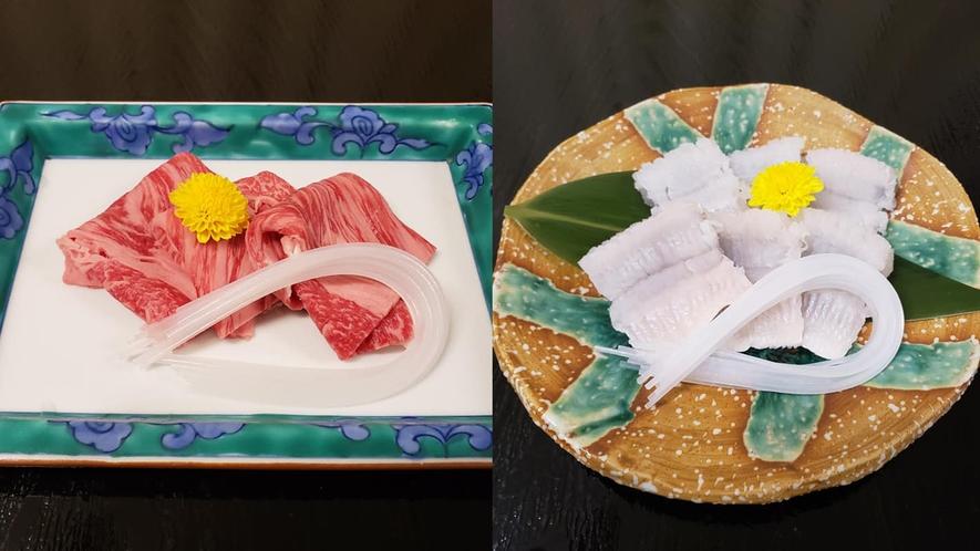 *【美食会席】「量」より「質」を重視~近江牛のしゃぶしゃぶと鱧~