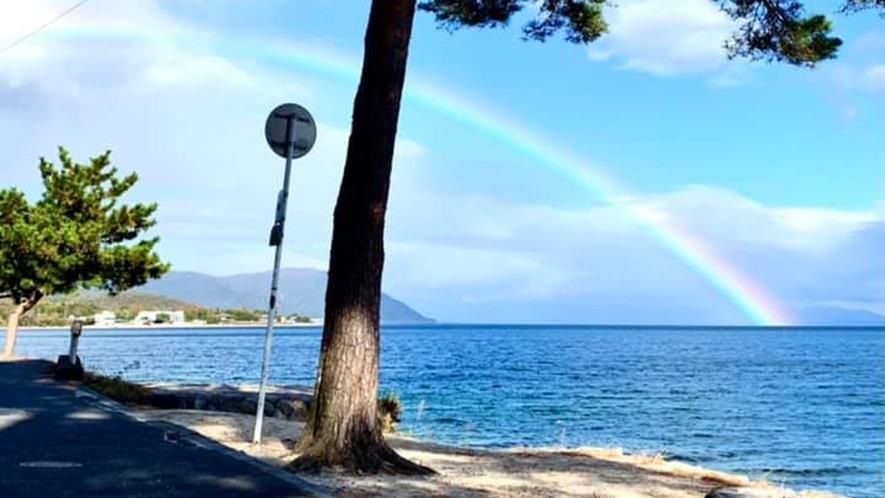 *実は琵琶湖はよく虹がかかります