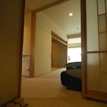 *【特別室】室内の床はすべてバリアフリー。車いすでも安心です。