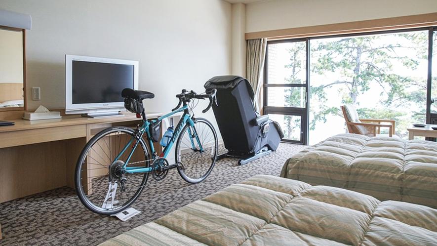 *お部屋に大切な自転車を持ち込みOK!(部屋入れをご希望の場合はご予約時にお申し付けください)