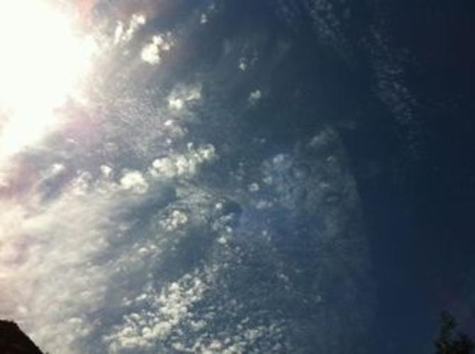 大渡ダム湖畔をサイクリング 秋の空