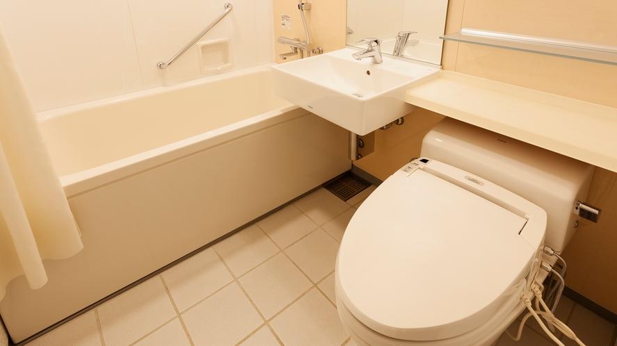 □【客室】バスルーム(セミダブル・スタンダードツイン・ダブル共通)