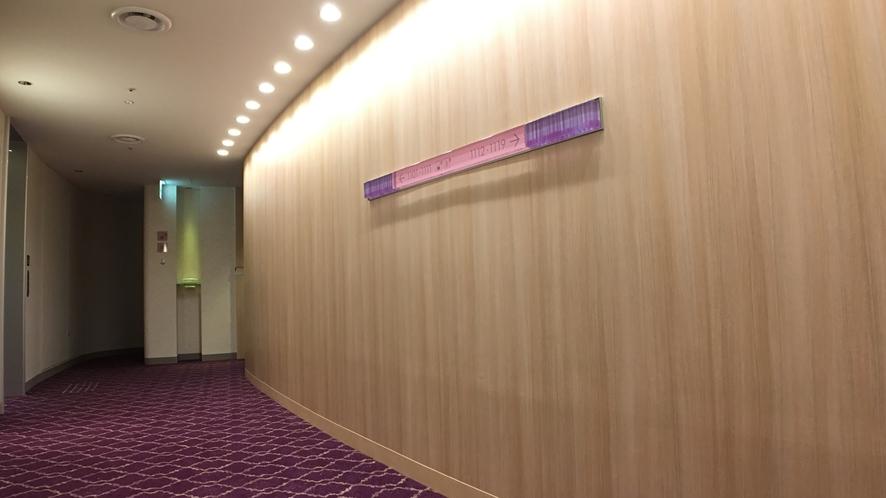 □客室階 EVホール