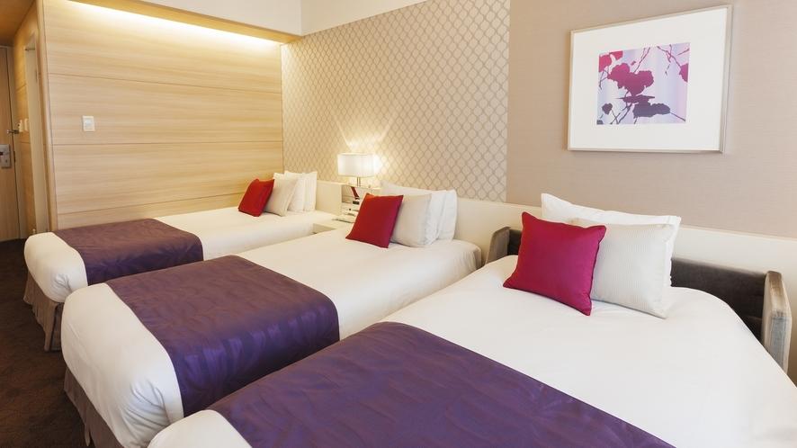 □【客室】スタンダードツイン+ソファベッド 北側 21.7平米