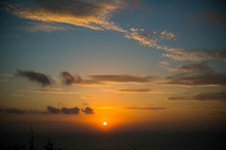 古宇利島の夕焼け
