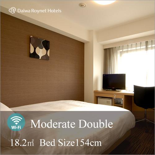 【モデレートダブル】2人でも充分サイズの154cmベッド採用。2人の距離がより近づくお部屋。