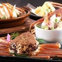 【冬 食事一例】蟹一杯の食べ方を自由にご指定頂ける、当館オリジナルプランも人気です
