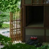 【特別室 雲井】茶室への入り口