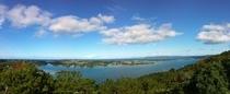 嵐山展望台から羽地内海の眺め(昼)