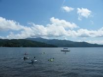 野尻湖でカヌー!