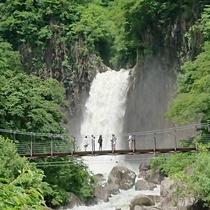 苗名滝 桟橋