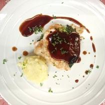 【夕食】鶏むね肉のチーズはさみ焼