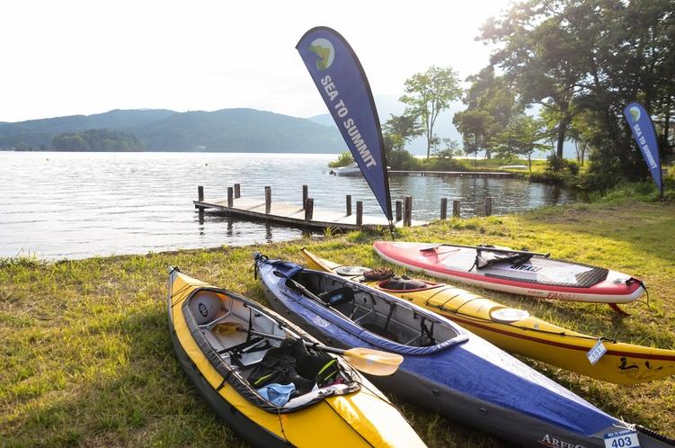 野尻湖でSUPやカヌーで水遊び!