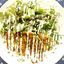 【夕食】 鶏の胸肉のカレーソテー