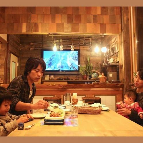 【夕食】夕食時にちょっとおじゃまして2