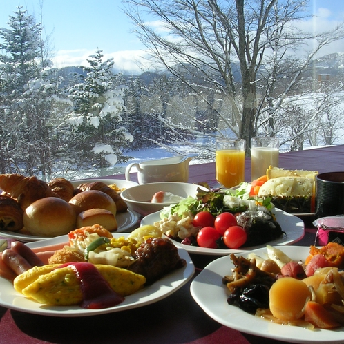 朝食冬景色
