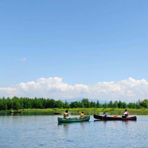 新内池の体験カヌー