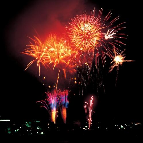 「仙台七夕花火祭」の花火が見える客室あり(2016年現在)写真提供:仙台市観光課