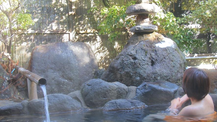 澄んだ空気の中、ゆっくりと自然を感じながらの湯浴み。