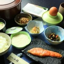 【朝食】四季を感じながらほっこり朝食を。
