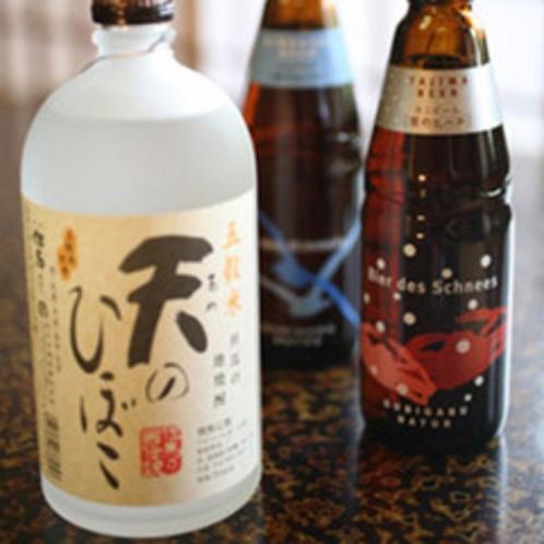 アルコール類(地の焼酎とビール)